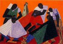 Jacob Lawrence, Barber Shop, 1946